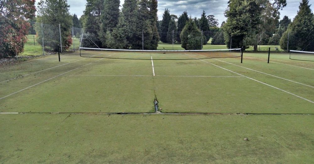 Saddest tennis court in the world.