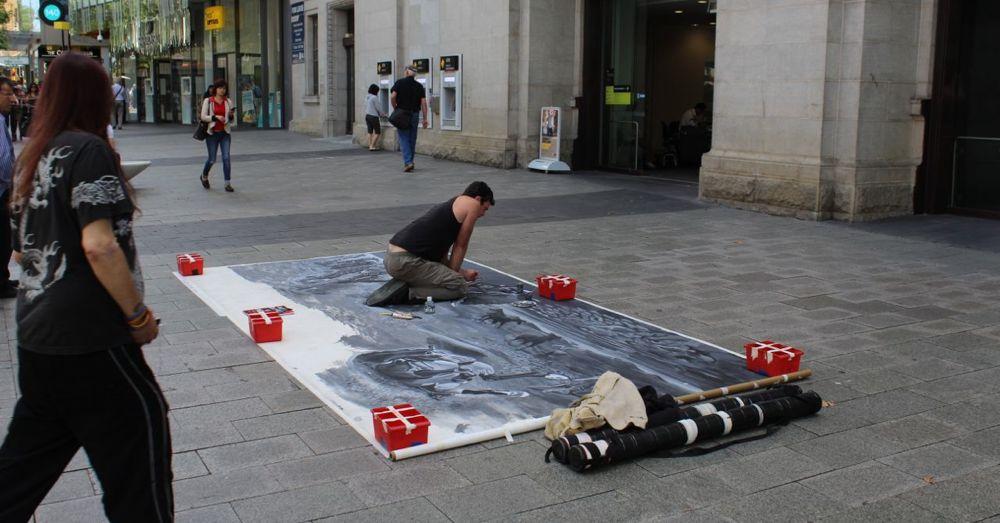 Street Artist, Murray St. Mall