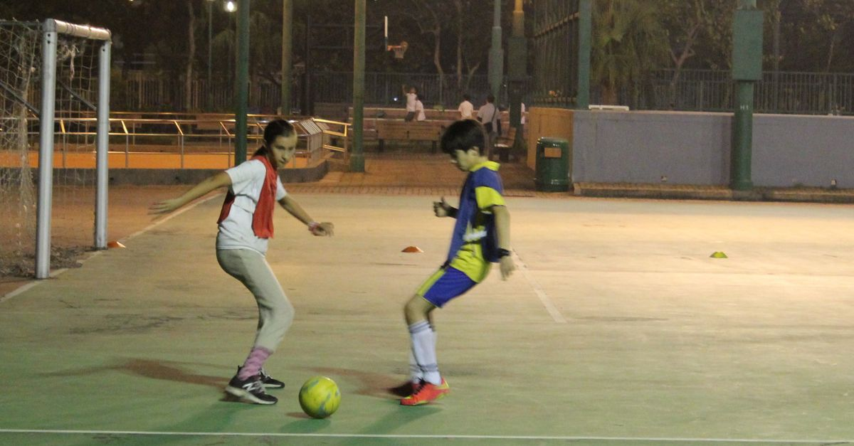 Soccer in Sai Kung