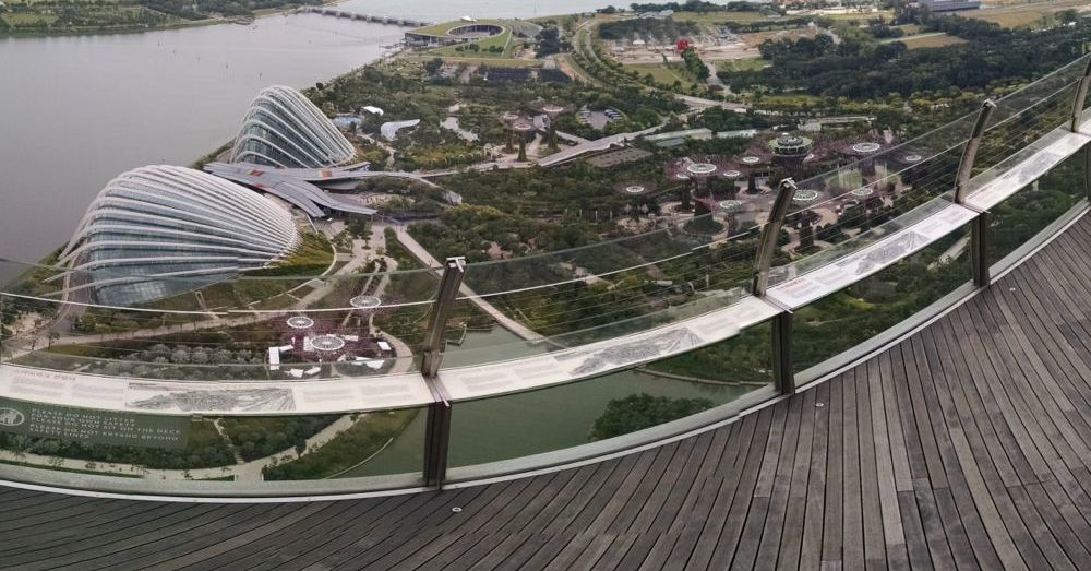 Gardens by the Bay from the SkyPark