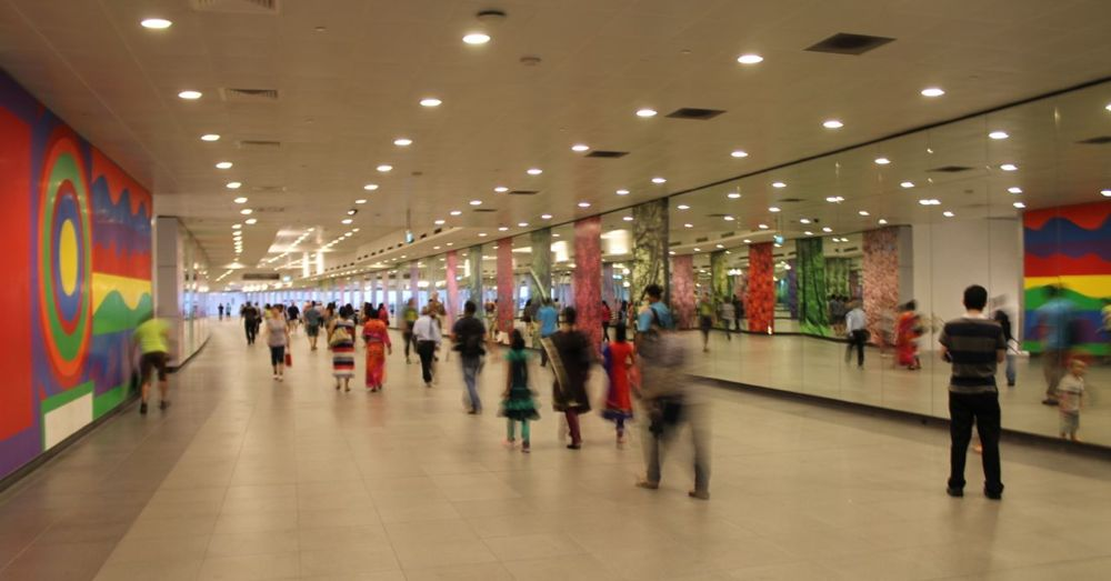 In the Singapore Subway