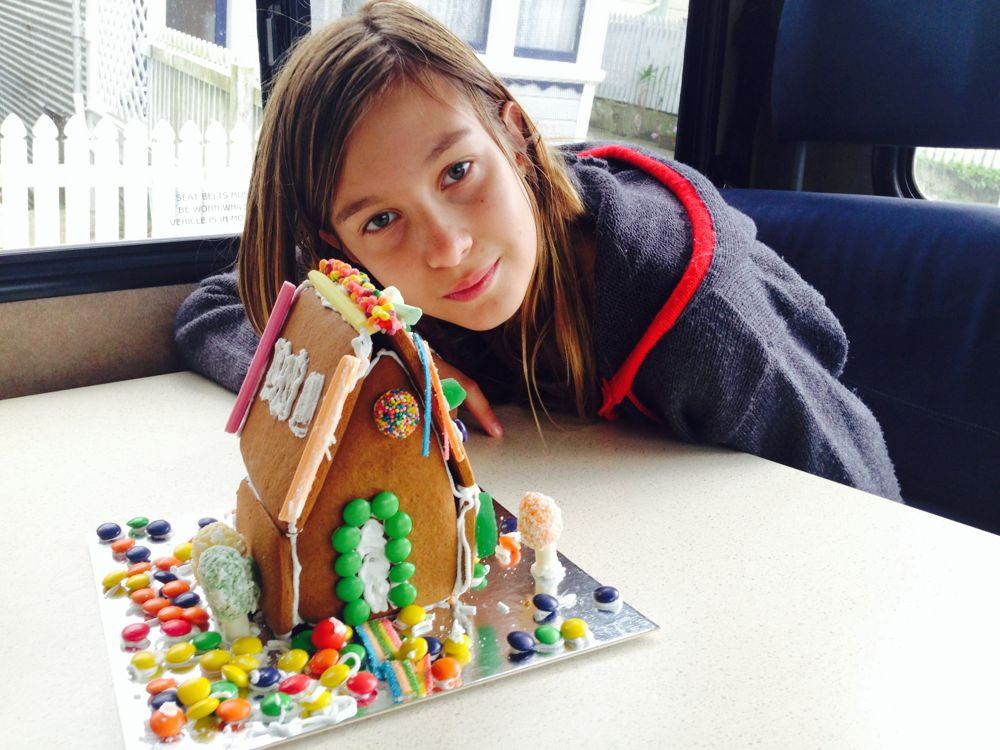 Gingerbread house by Decorada, decorated by Frankie and Jackie