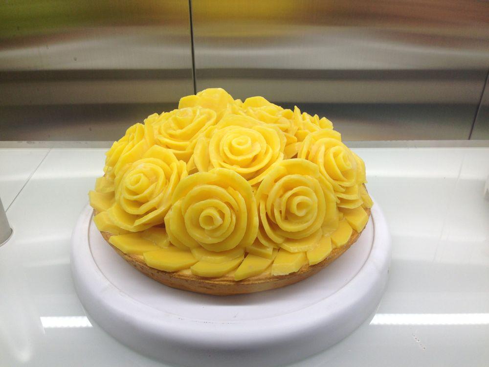 Beautiful cake in store window
