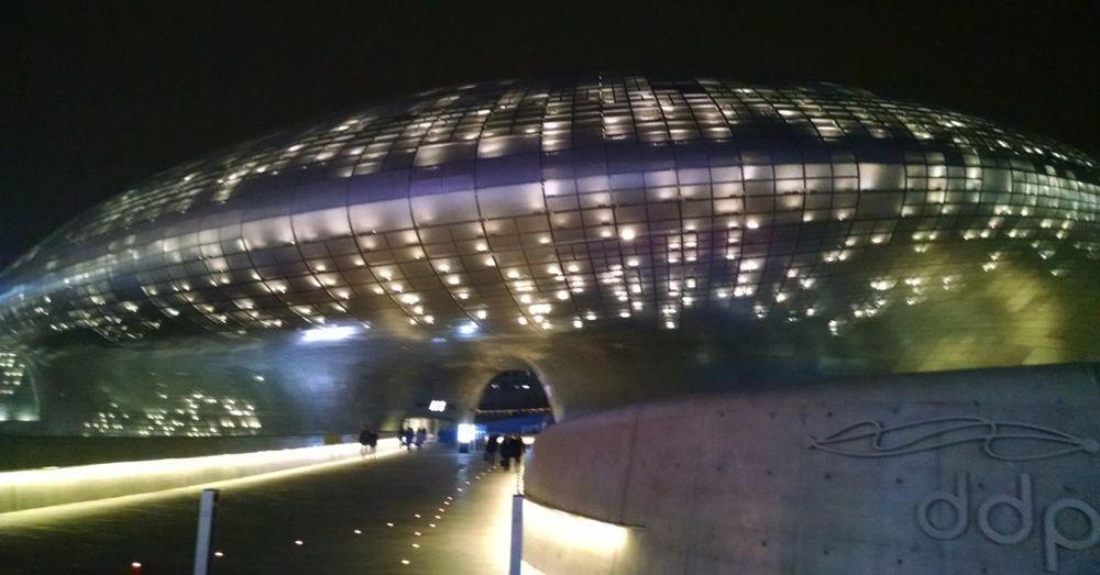 Dongdaemun Design Plaza at night (again).