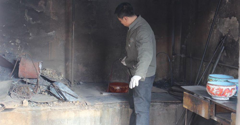 Firing a Cloisonne Pot