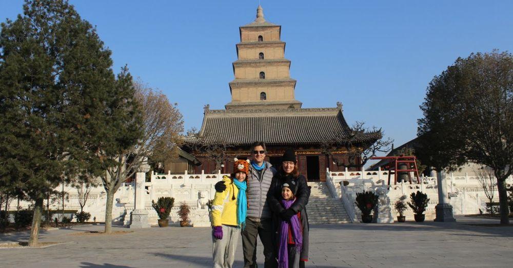 At the Big Wild Goose Pagoda