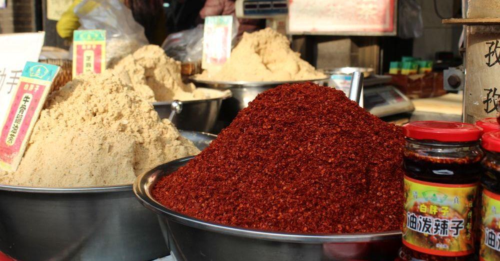 Ground spices.