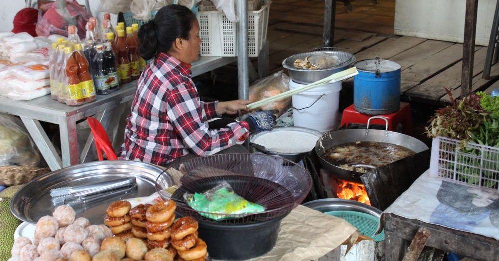 Vendor at a Siem Reap Market