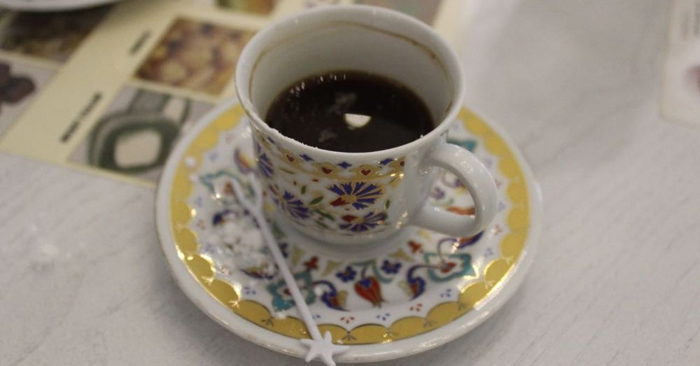 Third Turkish coffee of the day, made by my daughter's hands.