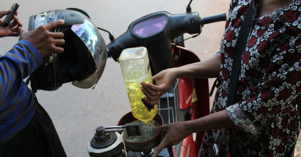 Petrol stop.