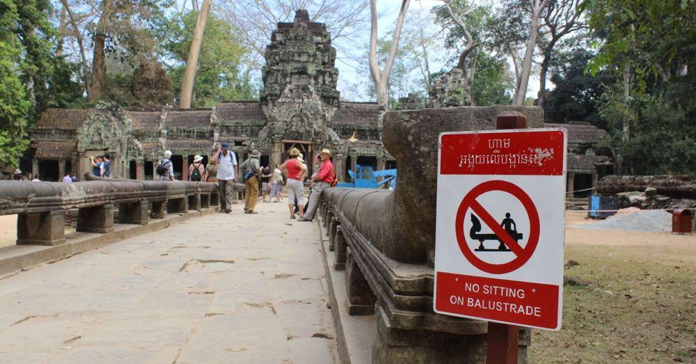 Tourists at Ta Prohm