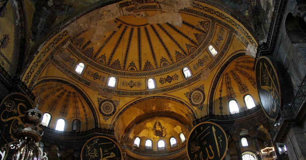 Prayer niche dome inside dome of the Hagia Sofia.