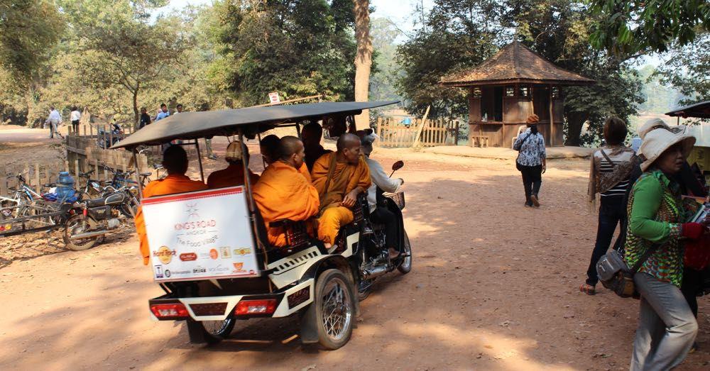 Monks in a Tuk Tuk
