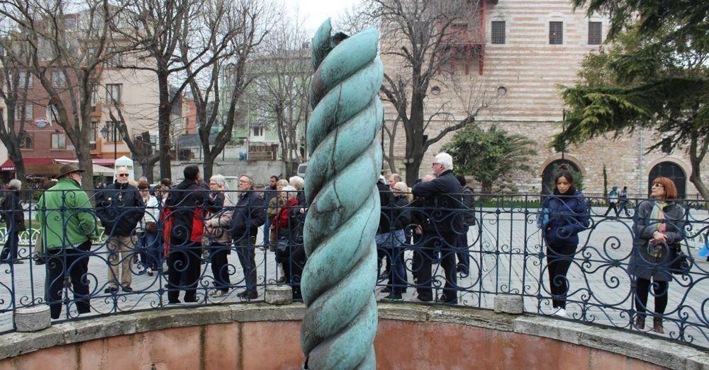 Serpent column.
