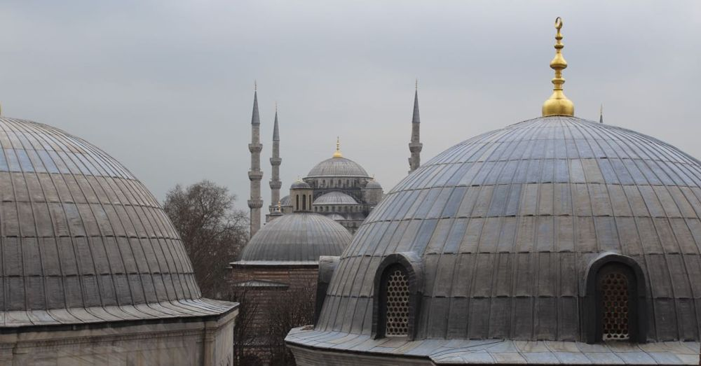 The Blue Mosque seen from the Hagia Sofia.