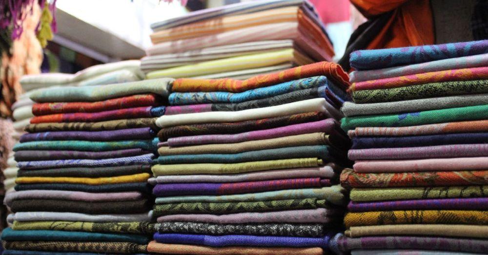 Pashmina shawls and scarves.