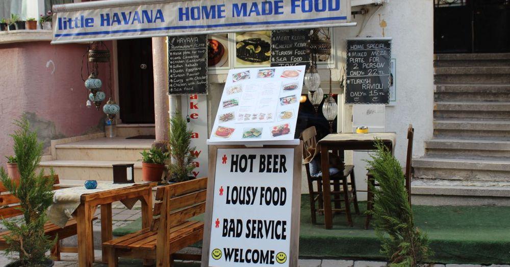 Inviting signage.