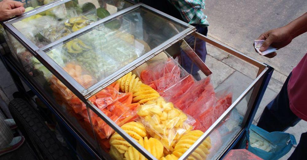 Fruit cart.