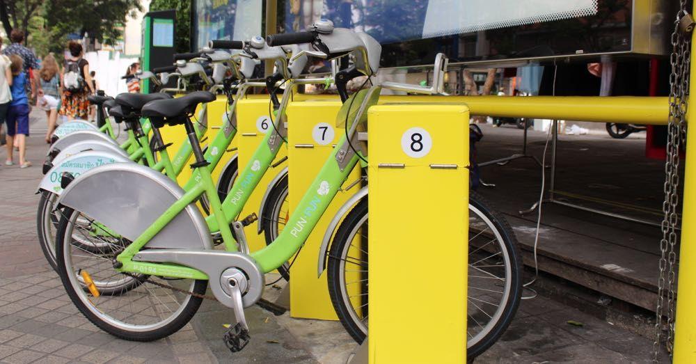 Public bikes, Bangkok.