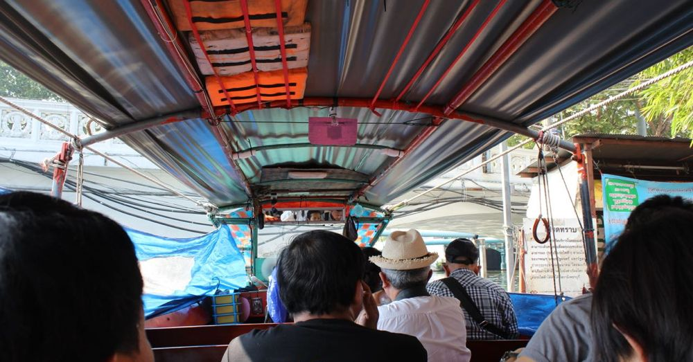 Inside the Khlong Saen Saep Express