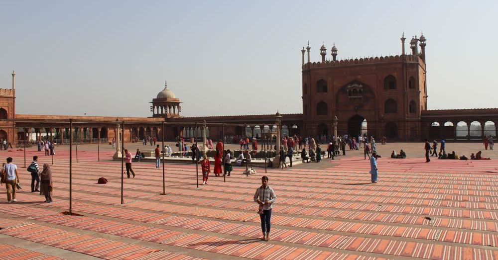 Courtyard at Jama Masjid, Delhi