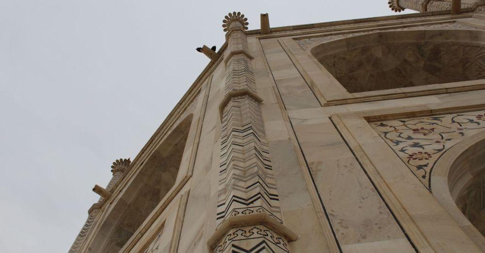 Optical Illusion Arcitecture at the Taj Mahal