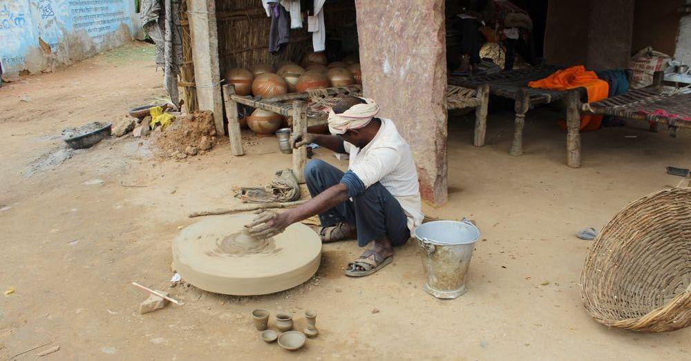 Potter at Chand Baori