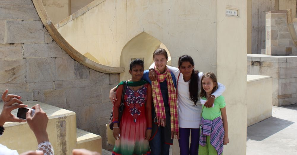 Photo with strangers at the Rashivalayas