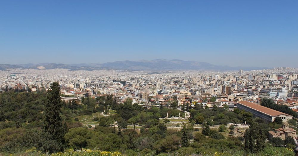Athens from the Areopagus (Hill of Mars)