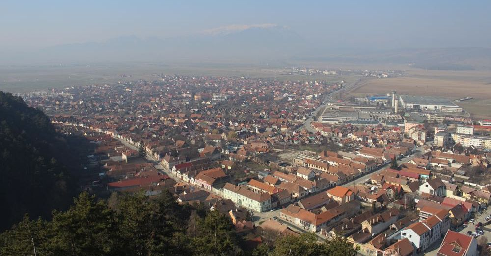 Rasnov from atop the Citadel