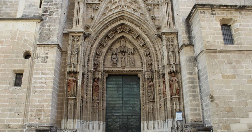 One of 15 Doors into the Seville Cathedral