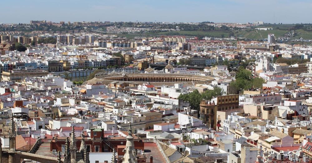 Seville, with Bullfight Ring