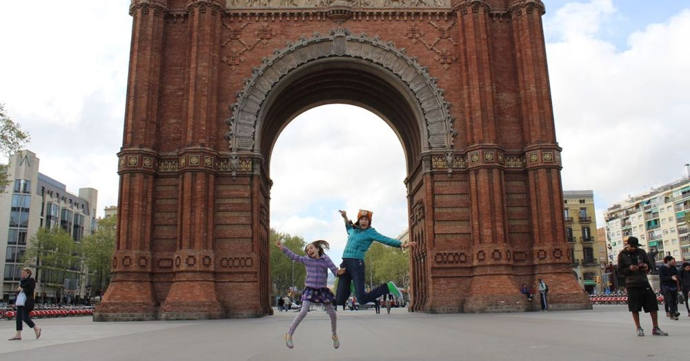 Jumping at the Arco de Triunfo