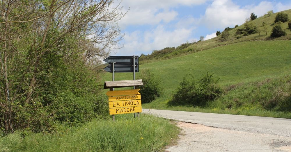 Turn here for La Tavola Marche