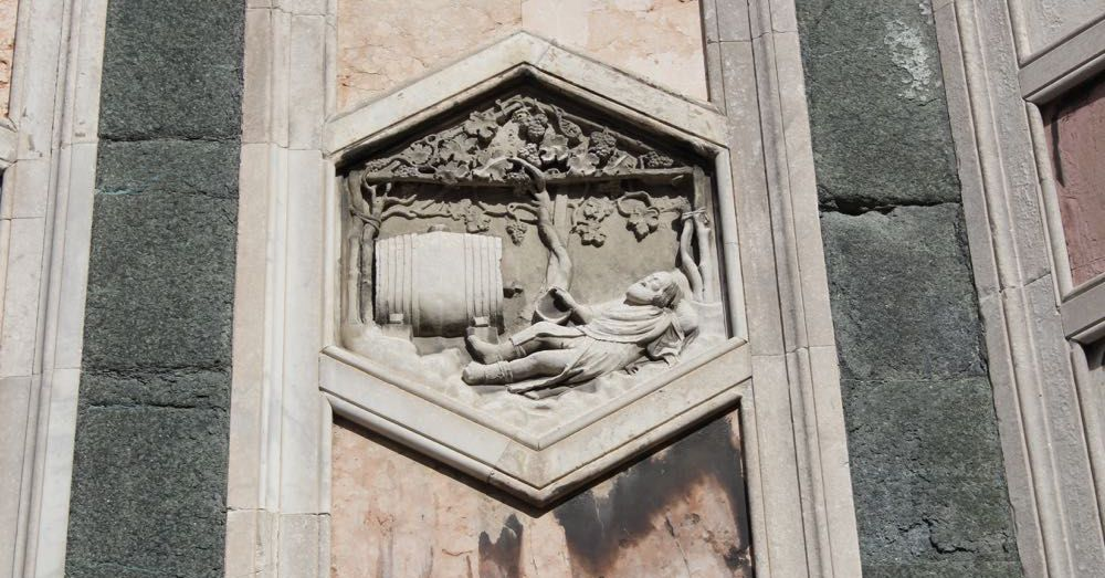 Detail of the Florence Cathedral facade