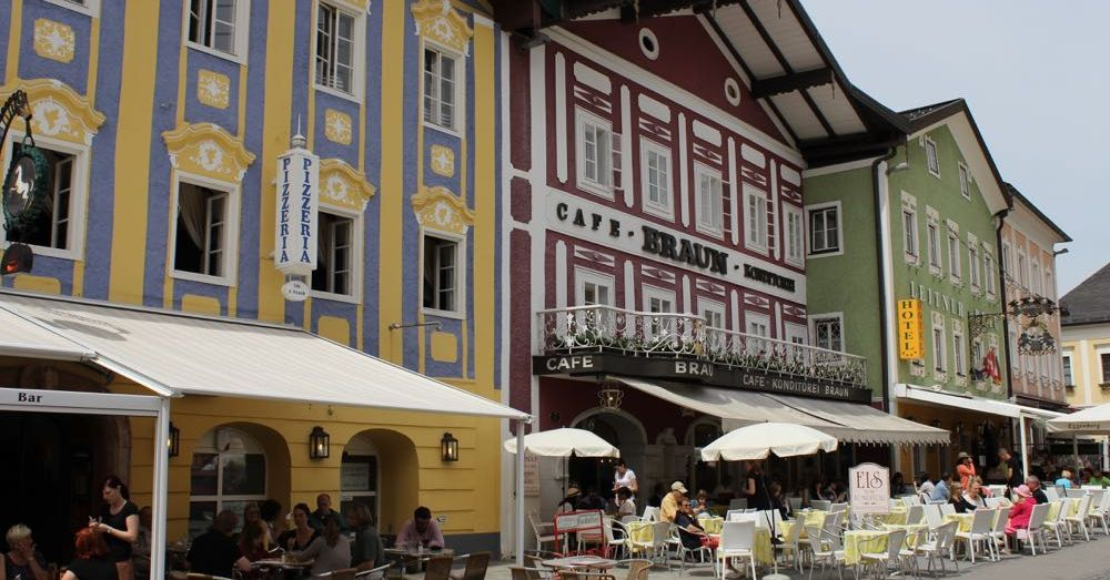 The town of Mondsee.