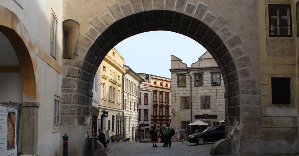 Entering Český Krumlov