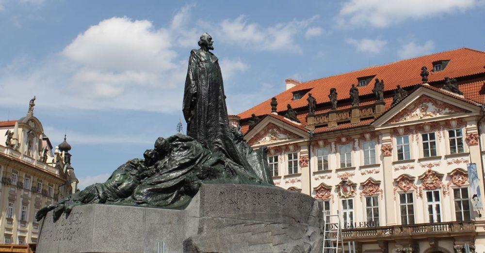 Ecclesiastical reformer Jan Hus.