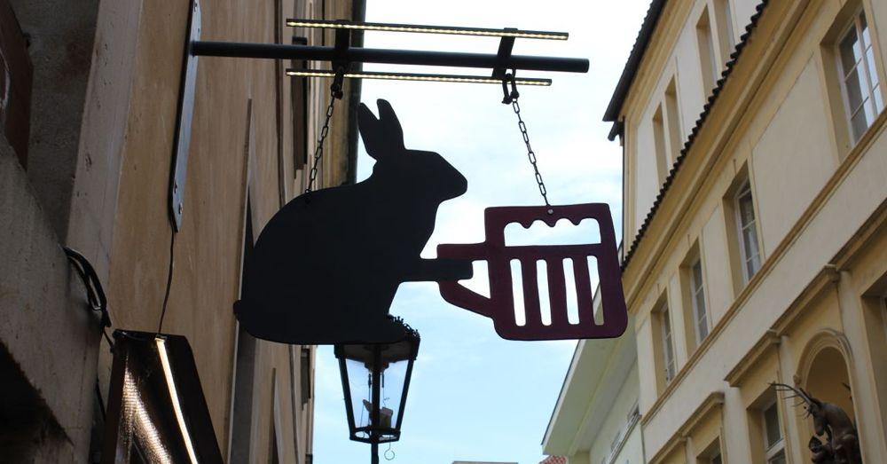 Rabbit Serving Beer
