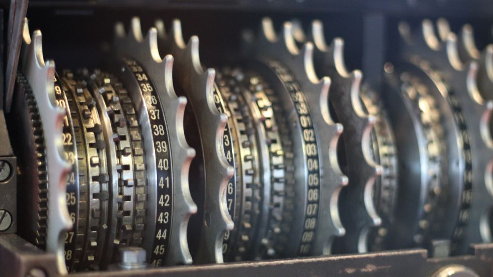 Codebreaking rotors of the Lorenz Machine.