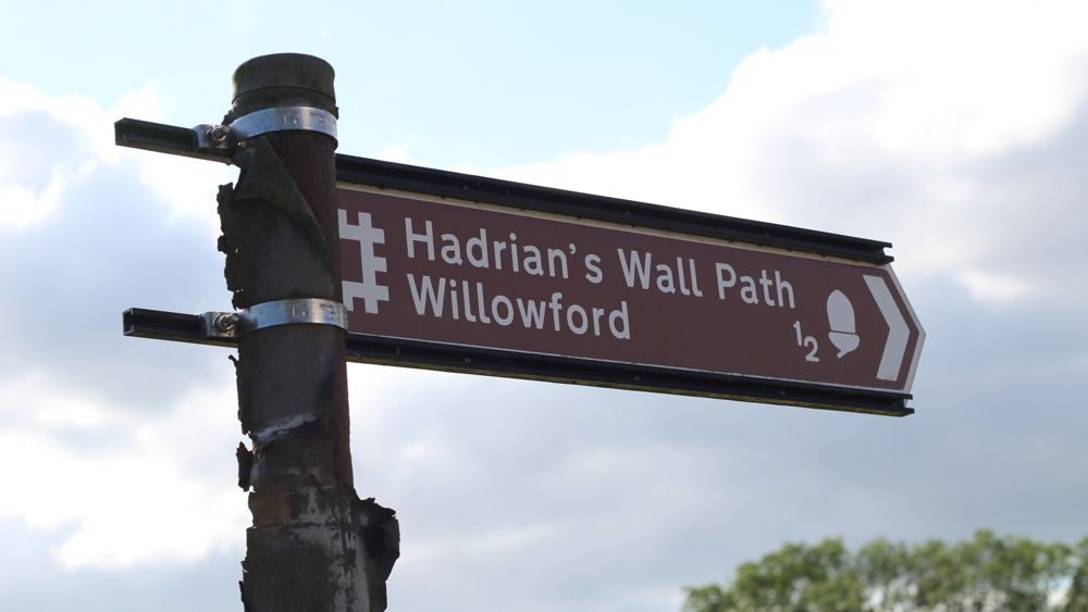 A convenient sign along the Hadrian's Wall Path.