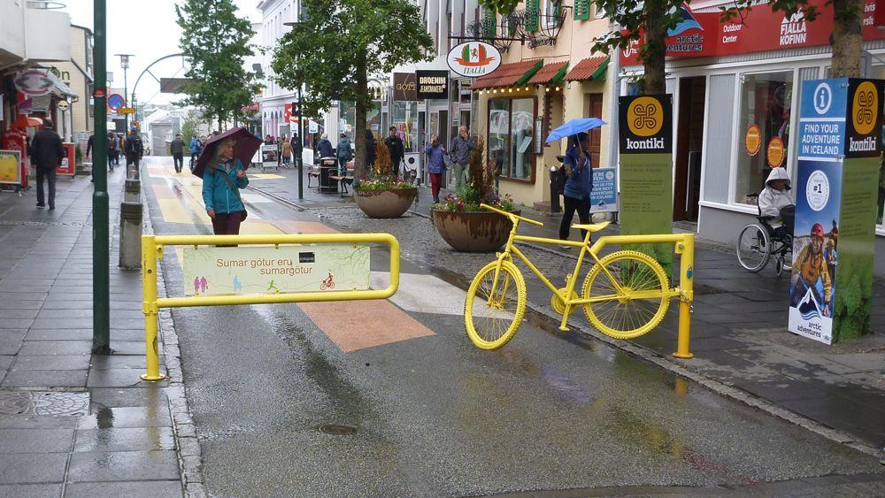 Reykjavik is a bike-friendly city.