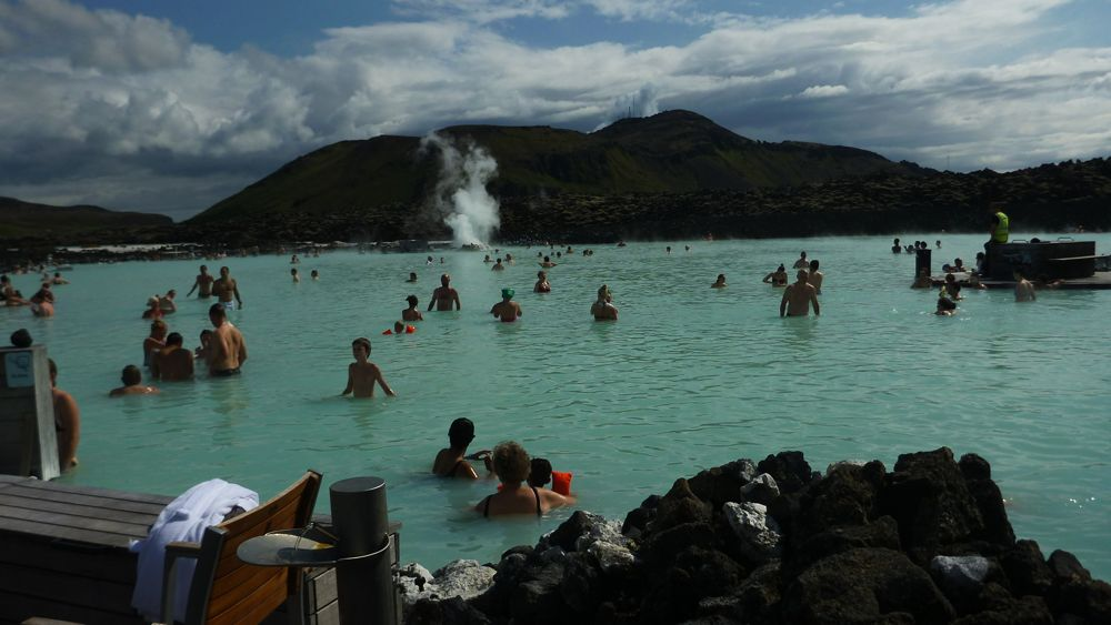 Bathers in the Blue Lagoon
