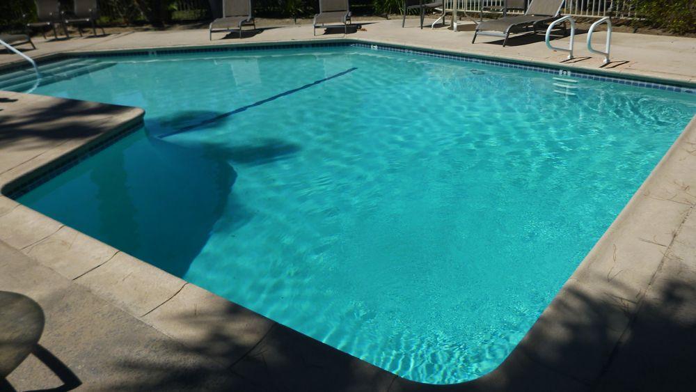 Palm Springs backyard.