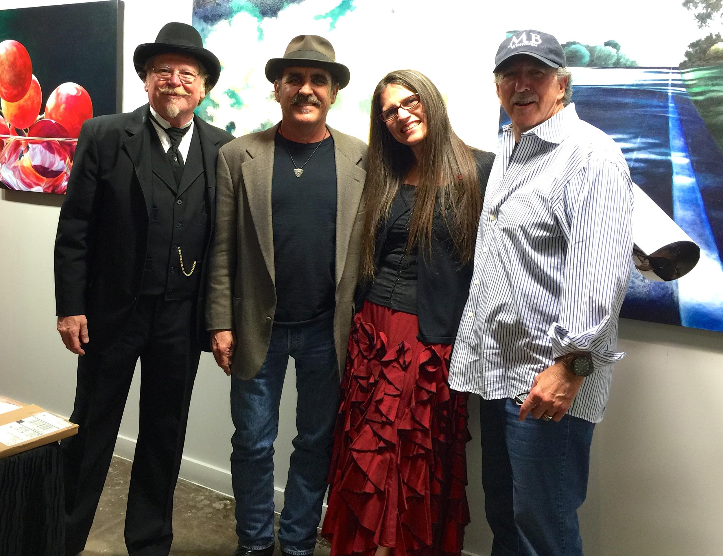E Clayton West, Shan and Annie (ShAnnie) and Mark Stevens at TASTE.