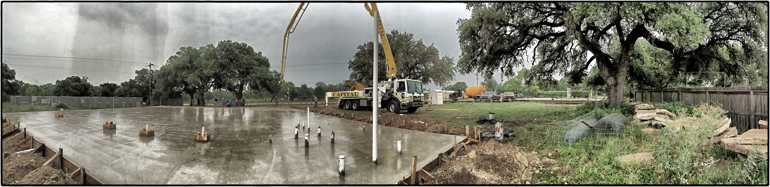Huge progress at 290Vinery on Saturday June 20th.  Poncho and Warren ROCKED IT! S lab poured June 20th in the rain - over 4k sq ft of concrete!