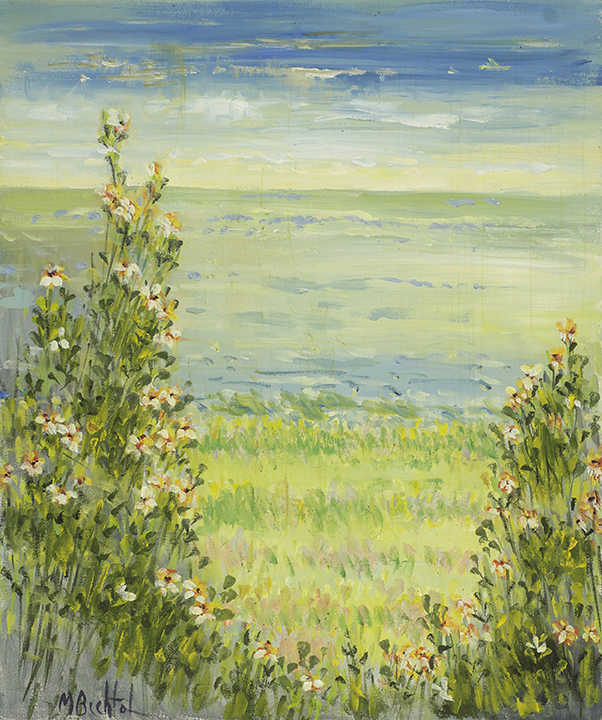 Bay View In Bloom 20x24  by Mary Bechtol