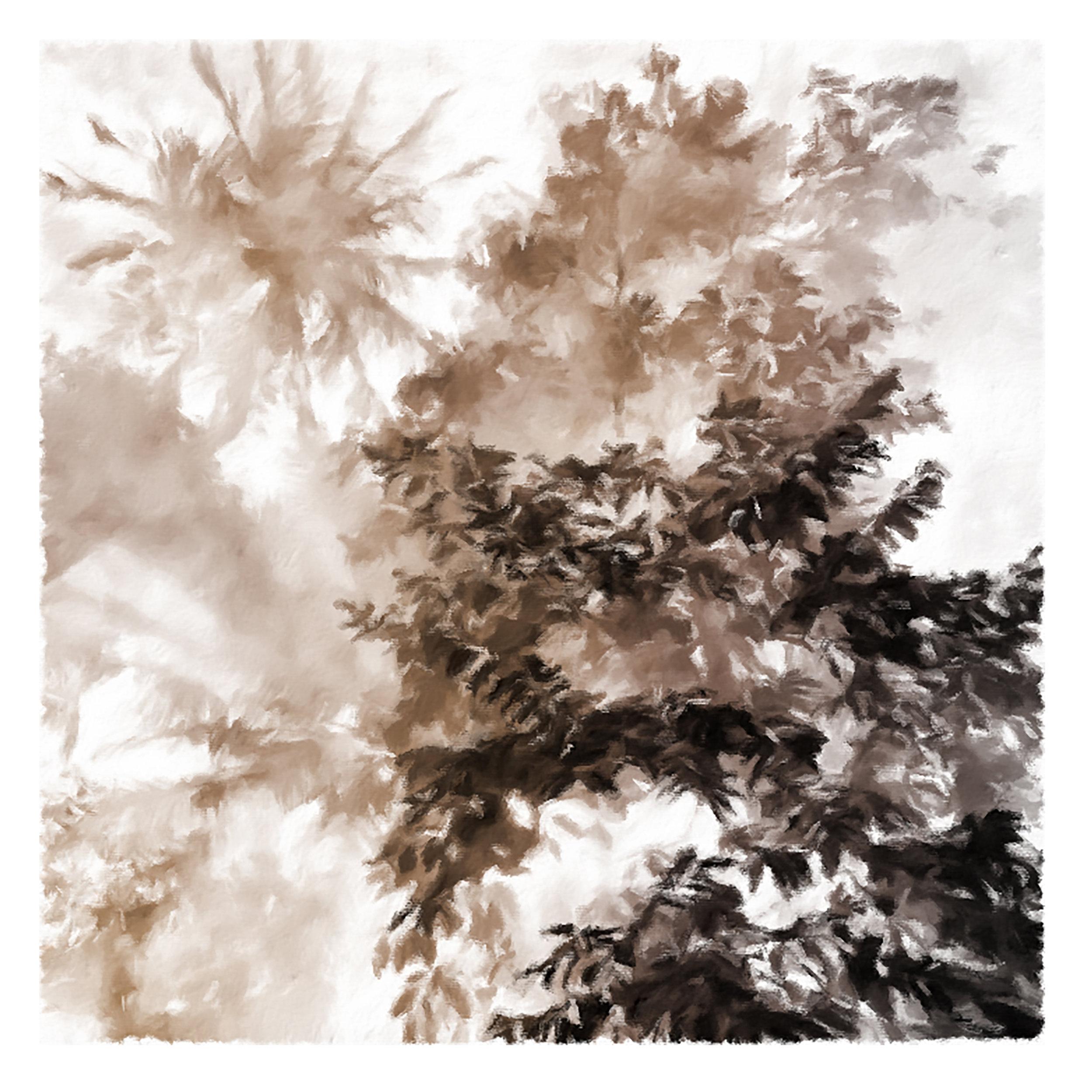 DOUBLES 18x18 mixed media by Susan Kirchman