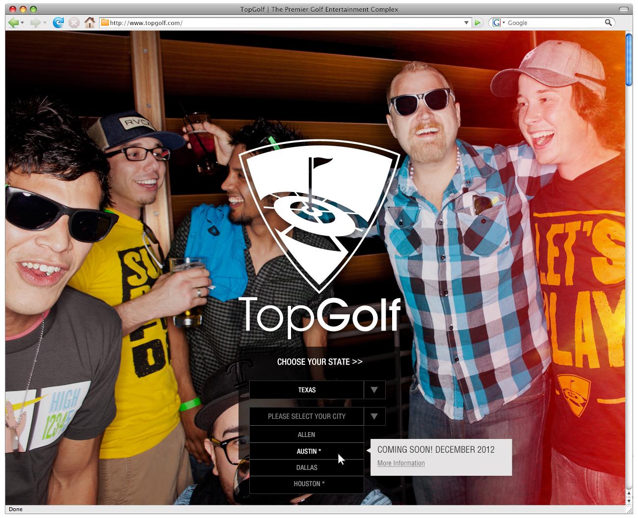 TopGolf Website Redesign 2012