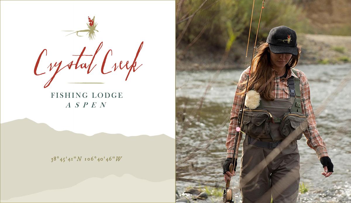 Crystal Creek Fishing Lodge;Identity Concept